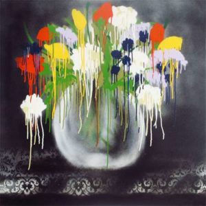 Yoksuk, 2013 Spray enamel on canvas 36 x 36 inches; 91.4 x 91.4 cm Signed on verso
