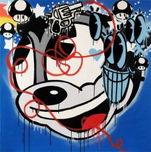 Animal Spirit, 2012 Spray enamel and acrylic on canvas 48 x 48 inches; 121.9 x 121.9 cm Signed and dated on verso