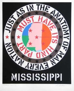 Mississippi (Decade Portfolio), 1971 Silkscreen on paper 39 x 32 inches; 99.1 x 81.3 cm Edtion: 200 Signed and dated LR, numbered LL