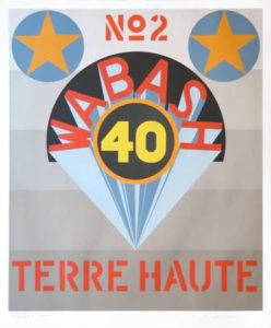 Terre Haute No. 2 (Decade Porfolio), 1971 Serigraph on white Schoellers parole paper 43.75 x 29.8 inches; 111.1 x 75.7 cm Edtion: 200 Signed and dated LR, numbered LL