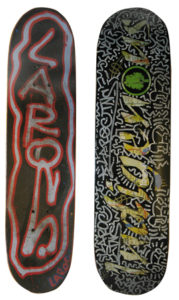 Untitled (Radiant Babies), 2011 Spray enamel and mixed media on skateboard 32 x 8 inches; 81.3 x 20.3 cm Double sided Signed