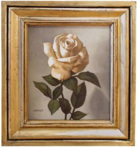 White Rose, 2005 Oil on canvas 16.5 x 14.5 inches; 41.9 x 36.8 cm Framed: 10.75 x 9.125 inches; 27.3 x 23.2 cm