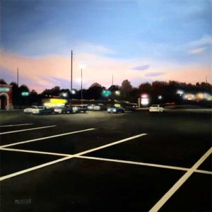 Parking Lot, 2015 Acrylic on wood  18 x 18 inches; 45.7 x 45.7 cm Signed lower left