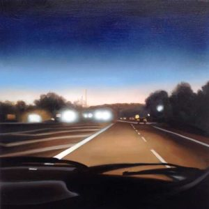 Night Ride, 2015Acrylic on wood 18 x 18 inches; 45.7 x 45.7 cmSOLD