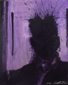 Shadow Head, 2014  Acrylic on canvas,  20 x 16 inches; 50.8 x 40.6 cm,  WGRH1165, Signed and dated LR