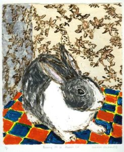 Bunny in a Room IV, 2006 Strappo monotype 15.5 x 13.5 inches; 39.4 x 34.3 cm Signed, titled and numbered in pencil