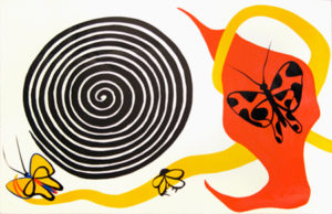 Butterflies and Spiral, 1975 Color lithograph on paper 29 x 38 inches; 73.7 x 96.5 cm Edition: 33/125 Signed and numbered lower right