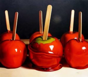 Candy Apples, 2009 Oil on canvas 64 x 72 inches; 162.6 x 182.9 cm