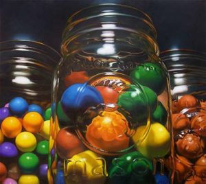 Candy Jars, 2008 Oil on canvas 64 x 72 inches; 162.6 x 182.9 cm  SOLD