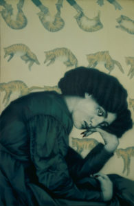 Cats Falling, 1983 Acrylic on canvas 36 x 55 inches; 91.4 x 139.7 cm  SOLD