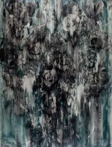 Challenge to the Dark, 2009 Oil on paper 50 x 38.5 inches; 127 x 97.8 cm