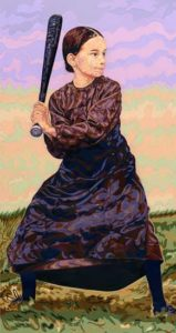 Batter Up!, 1997 Hand-cut Coloraid paper on archival paper 37.4 x 19.25 inches; 94.9 x 48.9 cm  SOLD
