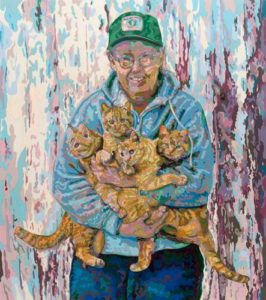 Bert's Cats, 1999 Hand-cut Coloraid paper on archival paper 27.1 x 24 inches; 68.9 x 61 cm
