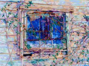 Cabin Window, 2000 Hand-cut Coloraid paper on archival paper 22.5 x 30 inches; 57.2 x 76.2 cm