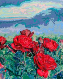 Oregon Roses, 2000 Cut paper 28.75 x 23 inches; 73 x 58.4 cm  SOLD