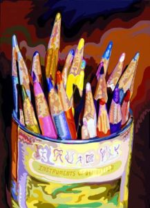 Colored Pencils, 1999 Hand-cut Coloraid paper on archival paper 24 x 17 inches; 61 x 43.2 cm  SOLD