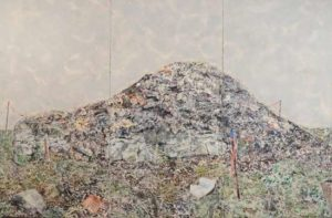Compost Pile, 2010 Mixed pigments on gessoed tarpaper 71 x 108 inches; 180.3 x 247.3 cm