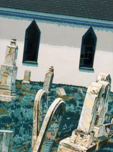 Distant Choir, 1997 Hand-cut Coloraid paper on archival paper 23 1/8 x 17 1/8; 58.7 x 43.4 cm
