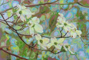 Dogwood Hand-cut Coloraid paper on archival paper 20 x 30 inches; 50.8 x 76.2 cm  SOLD