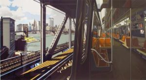 D Train, 1988 Color screenprint on paper 46 x 81 inches; 116.8 x 205.7 cm Signed and dated Edition: AP II SOLD