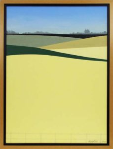 Field of Colza, 2012 Acrylic on canvas 29.5 x 21.5 inches; 74.9 x 54.6 cm Framed