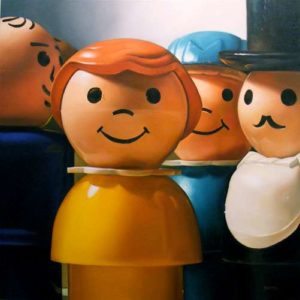 Fisher Price People, 2010 Oil on canvas 48 x 48 inches; 121.9 x 121.9 cm