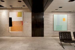 Installation at the Four Seasons Restaurant Lobby L to R: Lily Swan, 2008 Reef, 2009