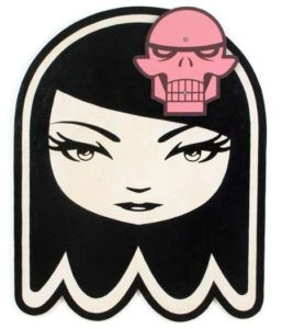 Ghost Girl, 2009 Enamel on wood (with detachable skull) 51.5 x 41 inches; 130.8 x 104.1 cm  SOLD