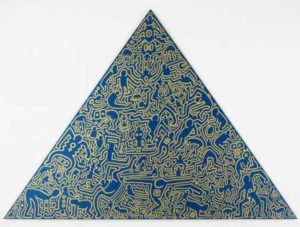 Pyramid (Blue), 1989 Screenprint on anodized aluminum 41 x 56.5 inches; 104.1 x 143.5 cm Incised signature and date on verso Edition: 30