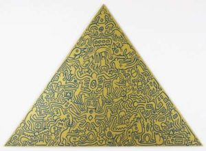 Pyramid (Gold), 1989 Screenprint on anodized aluminum 41 x 56.5 inches; 104.1 x 143.5 cm Incised signature and date on verso Edition: 30