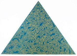 Pyramid (Green), 1989 Screenprint on anodized aluminum 41 x 56.5 inches; 104.1 x 143.5 cm Incised signature and date on verso Edition: 30