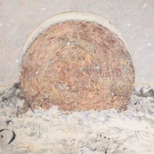 Hay Bale, 2010 Mixed pigments on gessoed tarpaper 71 x 71 inches; 180.3 x 180.3 cm  SOLD