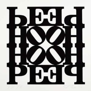 Hope Wall: Black & White, 2009 Silkscreen on paper 23 x 23 inches; 58.4 x 58.4 cm Edition: 1/3 PP Signed LR, numbered LL