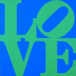 Love (Blue & Green), 1966 Silkscreen on paper 24 x 24 inches; 61 x 61 cm Framed: 27 x 25 inches; 68.6 x 63.5 cm Edtion: 10/25 Signed, numbered and dated on verso SOLD