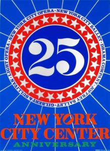 New York City Center 25th Anniversary, 1968 Screenprint on paper 35 x 25 inches; 88.9 x 63.5 cm Signed lower right