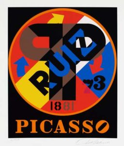 Picasso (American Dream Portfolio), 1998 Screenprint on paper 19 x 16 inches; 48.3 x 40.6 cm Edition: 13/30 Signed & dated LR, numbered LL