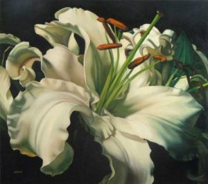 Lily, 2008  Oil on canvas 48 x 54 inches; 122 x 137.1 cm SOLD
