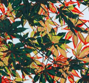 Maple Spray, 1995 Hand-cut Coloraid paper on archival paper 15.13 x 16.25 inches; 38.4 x 41.1 cm