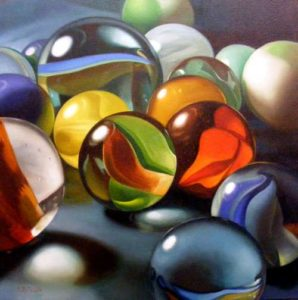 Marbles, 2010 Oil on canvas 24 x 24 inches; 61 x 61 cm