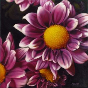 Daisy Pom, 2014 Oil on canvas; Signed 24 x 24 inches; 60.96 x 60.96 cm