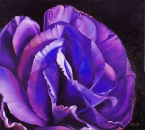 Lisianthus, 2014 Oil on canvas; Signed 24 x 27 inches; 60.96 x 68.58 cm