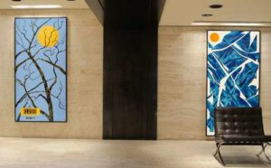 Winter - Four Seasons Series, 1996 Summer - Four Seasons Series, 1994 84 x 48 inches; 213.4 x 121.9 cm (each) Custom Framed