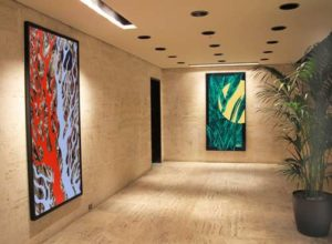 Fall - Four Seasons Series, 1996 Spring - Four Seasons Series, 1996 84 x 48 inches; 213.4 x 121.9 cm (each) Custom Framed