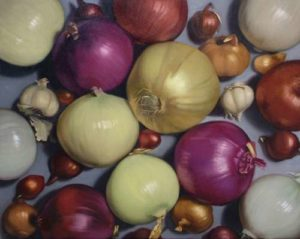 Onions, 2005 Oil on canvas 24 x 30 inches; 61 x 76.2 cm