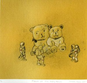 Planet of the Teddy Bears, 2007 Silkscreen, paper litho and mixed media 8.5 x 8 inches; 21.6 x 20.3 cm