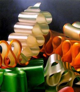Ribbon Candy, 2009 Oil on canvas 54 x 48 inches; 137.2 x 121.9 cm