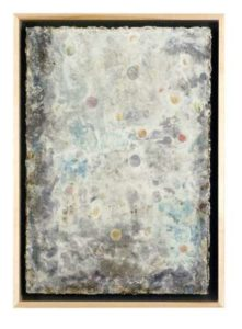 Rock Glass & Bubbles, 2009 Gesso, pigment and solvent transfer on tar paper 20 x 14.25 inches; 50.8 x 36.2 cm Signed on front and stamped signed on verso