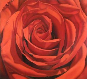 Red Rose, 2008 Oil on canvas 48 x 54 inches; 121.9 x 137.2 cm