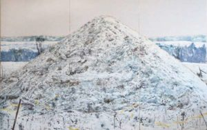Salt Mound, 2012 Mixed pigments on gessoed wood panels 92 x 144 inches; 233.6 x 365.7 cm