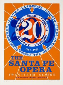 Santa Fe Opera, 1976 Serigraph on paper 37.5 x 27 inches; 95.3 x 68.6 cm Signed & dated LR, titled LL Edition of 250